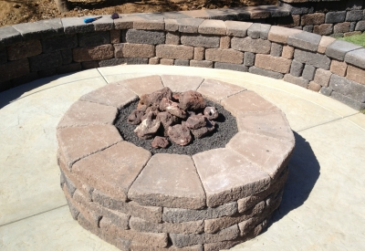 custom metal pan propane fire pit