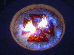 Unique fireglass and toppers designs